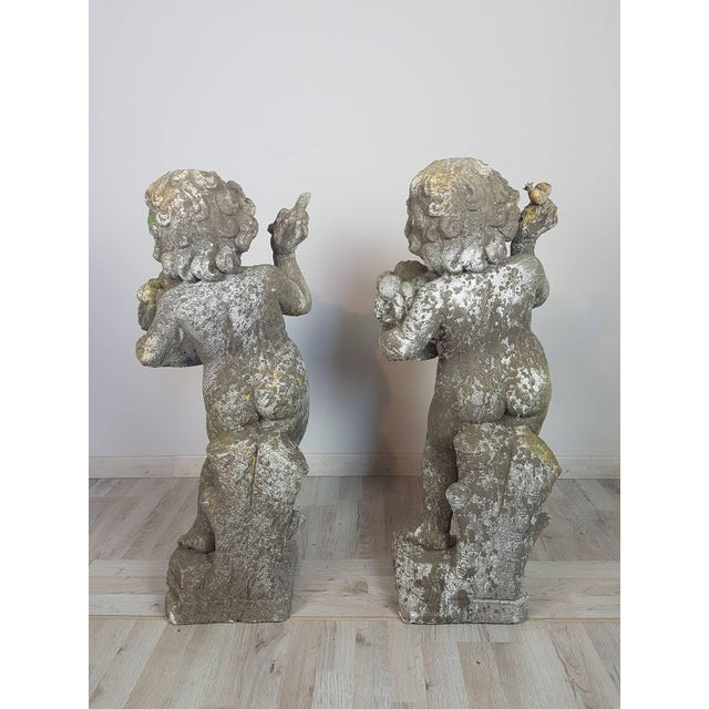20th Century Italian Neoclassical Garden Statues Set, Garden Ornament For Sale - Image 9 of 10