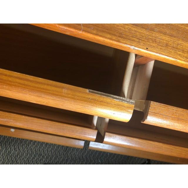 Mid Century Modern Danish Teak Lowboy 9 Drawer Dresser by Jesper For Sale In Atlanta - Image 6 of 13