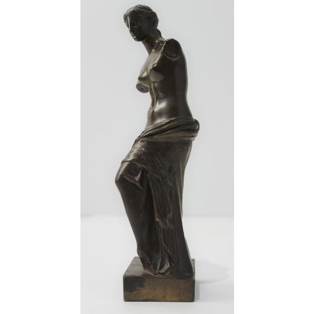 Metal Antique Grand Tour Venus De Milo Bronze Figure For Sale - Image 7 of 13