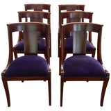 Image of 19th Century Antique English Dining Chairs- Set of 6 For Sale
