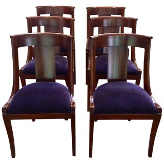 19th Century Antique English Dining Chairs- Set of 6 For Sale