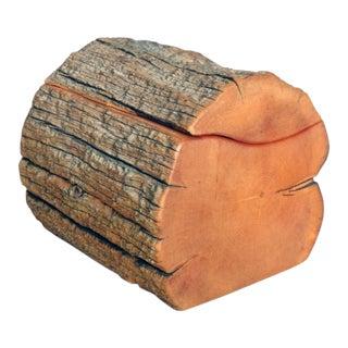 Hand Carved Organic Log Form Dresser Box For Sale
