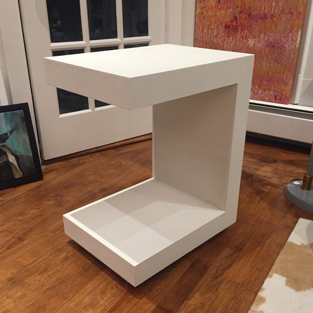 2010s Bungalow 5 Linen Side Tables- a Pair For Sale - Image 5 of 12