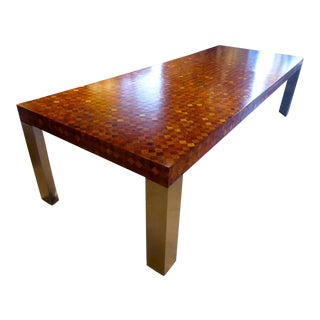 A 1970s Paul Evans Marquetry Wood Dining Table