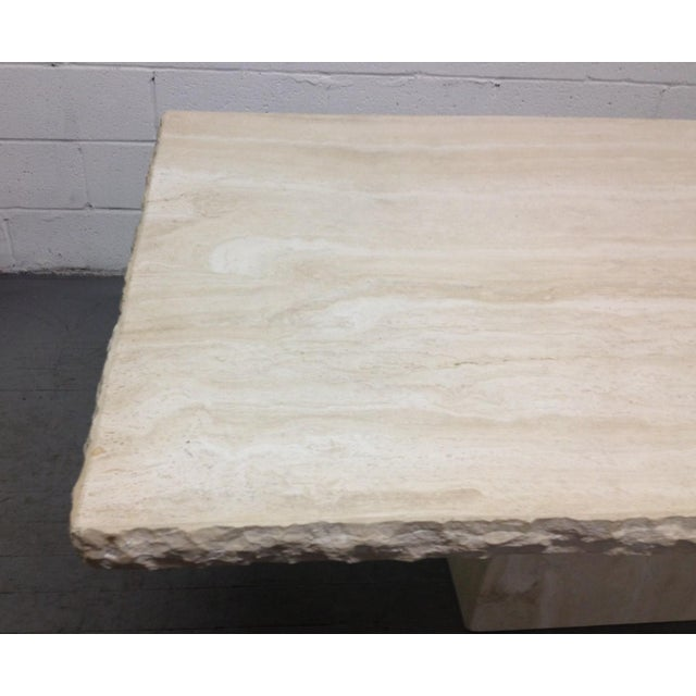 Large Italian Travertine Table For Sale - Image 4 of 6