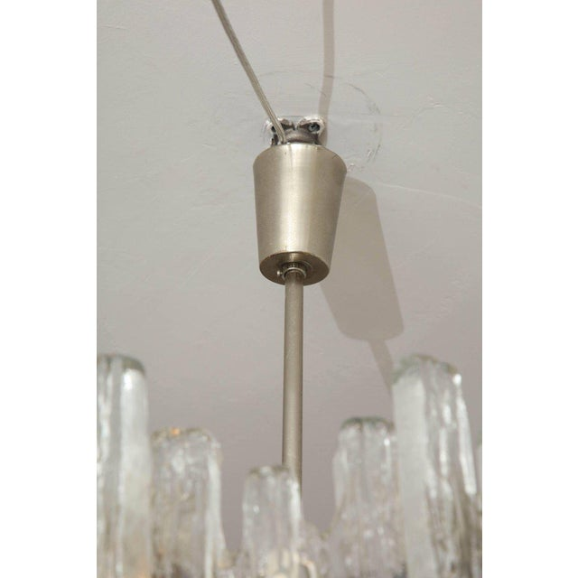 Vintage Kalmar Ice Glass Chandelier For Sale In New York - Image 6 of 10
