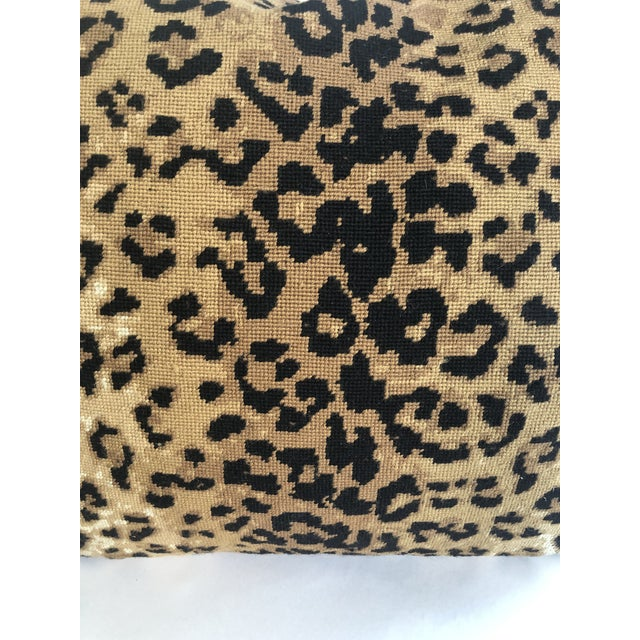 Boho Chic The Big Leopard Pillow For Sale - Image 4 of 9
