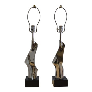 Pair of Maurizio Tempetini Lamps For Sale