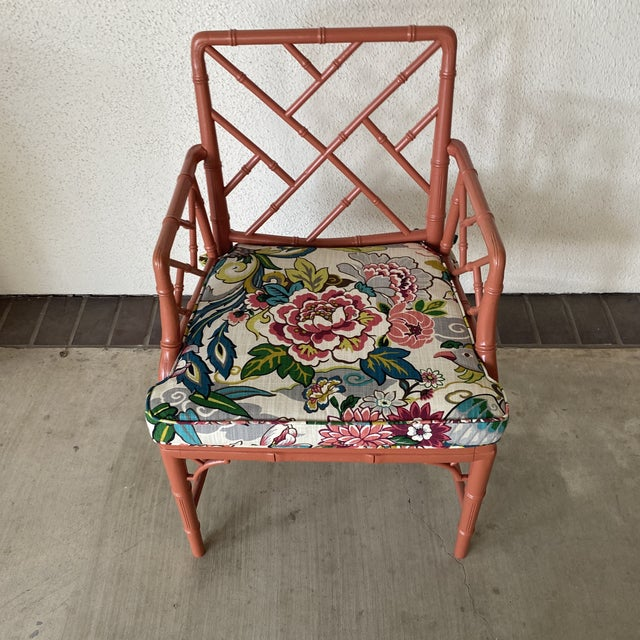 Modern Vintage Chinoisere Chair For Sale - Image 3 of 8