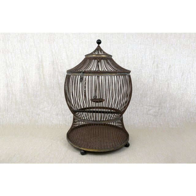 Vintage Pagoda Bird Cage For Sale - Image 11 of 11
