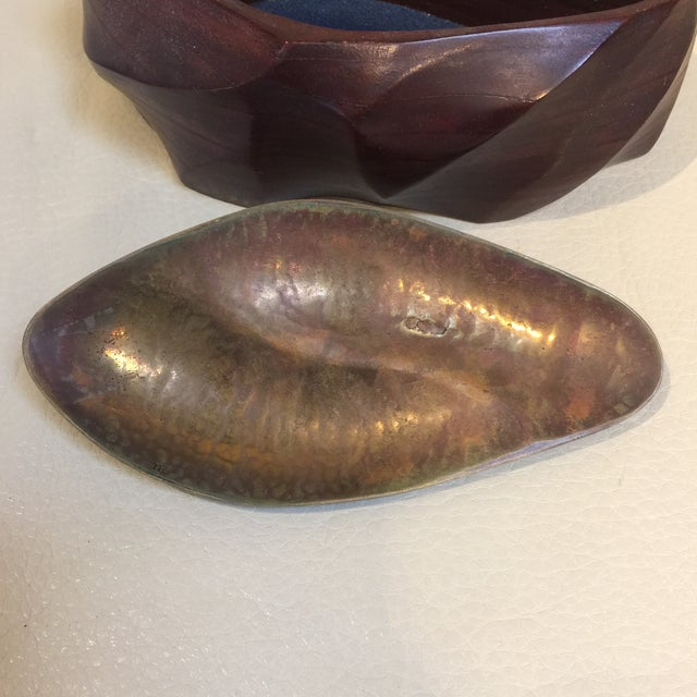 Sculpted Box Made From Leather For Sale In Sacramento - Image 6 of 11