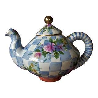 Mackenzie Childs Ceramic Teapot For Sale