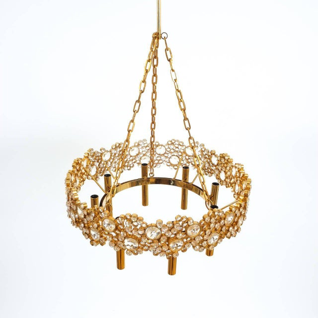 Beautiful 21 inch Corona chandelier from the 1960's by Palwa. Handcrafted and executed with great attention to detail this...
