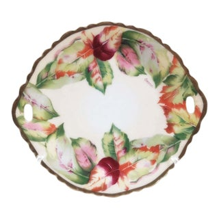 Antique Hand Painted Austrian Cake Platter For Sale