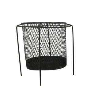 Elusive Wire Iron Modernist Waste Basket by Maurice Ducin Circa 1953 For Sale