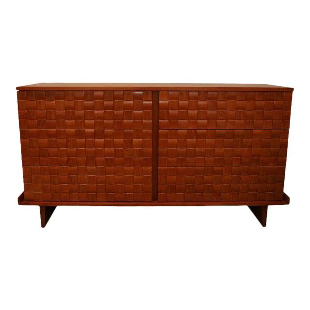 Paul Lazslo Basketweave Dresser For Sale