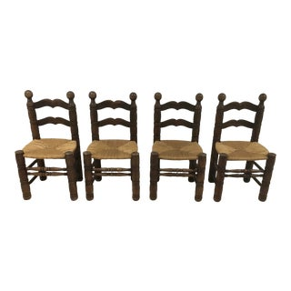 1970s Charles Dudouyt Chairs- Set of 4 For Sale