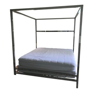 Contemporary Bernhardt Magdalena King Canopy Bedframe For Sale