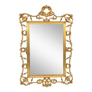 Italian Reticulated Carved Gold Gilt Mirror