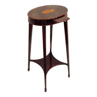 Traditional Kindel Historic Reproduction Massachusetts Kettle Stand Table For Sale