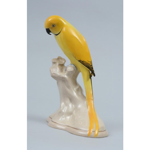 English Keeling Losol Ware Yellow Parrot For Sale - Image 3 of 8