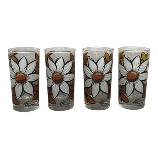 Vintage 1970s Glassware Tumblers - Set of 4 For Sale