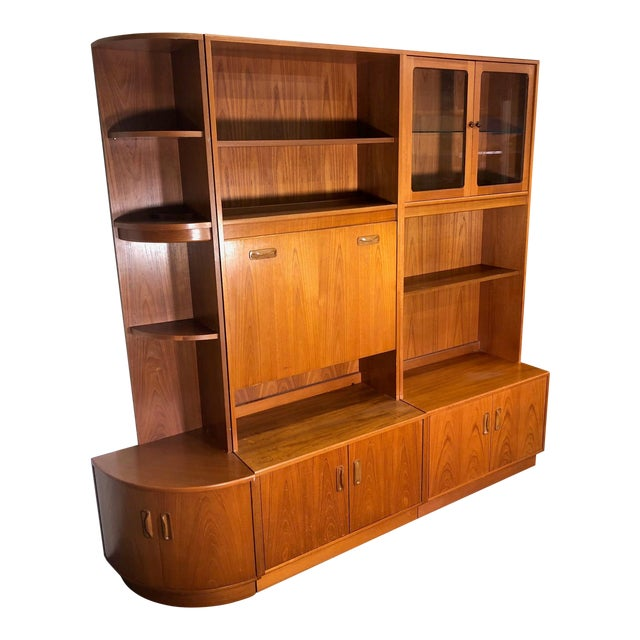 Mid Century Teak Modular Wall Unit by G Plan For Sale