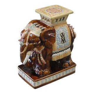 Island Style Elephant Garden Seat For Sale