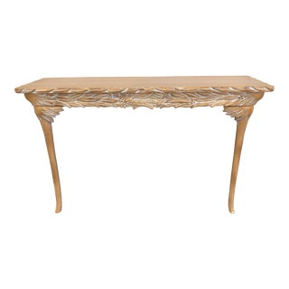 20th Century Boho Chic Palm Frond Console For Sale