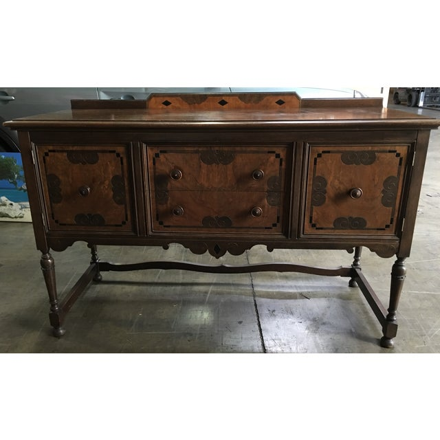 My great grandmother bought this set in 1915. I loved it for years, but.  Early American 1915 Grand Rapids Furniture ... - 1915 Grand Rapids Furniture Company Sideboard Chairish