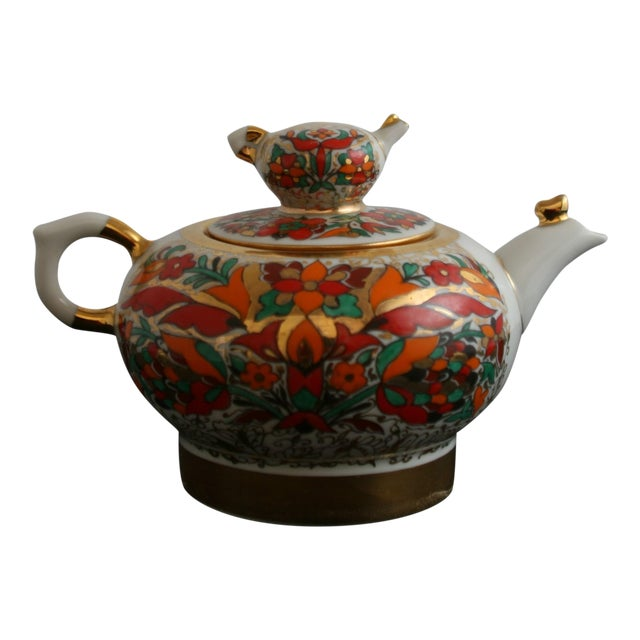 Russian Lomonsov Porcelain Rooster Teapot For Sale