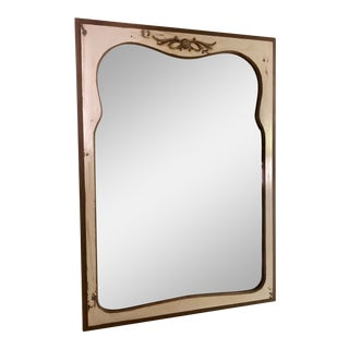 Antique Chalk Paint Wall Mirror For Sale