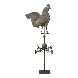 Rooster Weathervane Accompanied with Original Directionals