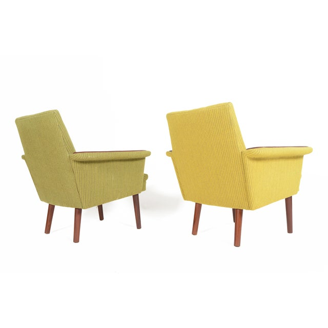 Danish Modern Teak Pawed Lounge Chairs - A Pair - Image 5 of 10
