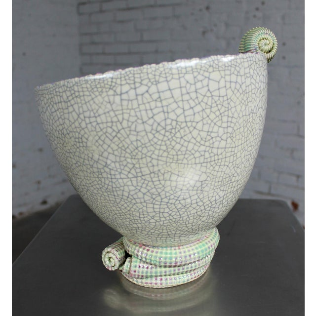 Sea Green Ceramic Sculpture by Martin Bleyer For Sale - Image 4 of 11