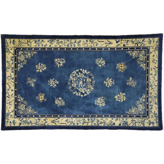 1910s Antique Chinese Peking Rug- 4′1″ × 6′9″ For Sale - Image 9 of 10