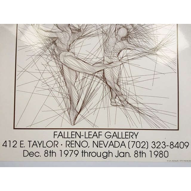 Vintage Guillaume Azoulay Gallery Exhibit Poster For Sale - Image 4 of 10