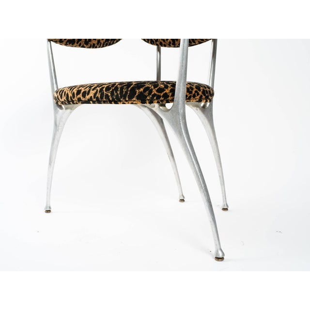 Very cool Shelby Williams aluminium chair. Perfect for a modern home.