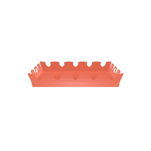 Oomph Ocean Drive Outdoor Tray, Orange For Sale In Charlotte - Image 6 of 7
