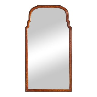Tortoise Shell Finish Mirror in Burnt Umber For Sale
