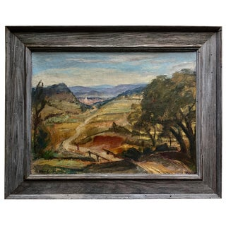 Mid-Century California Landscape-Framed & Signed For Sale