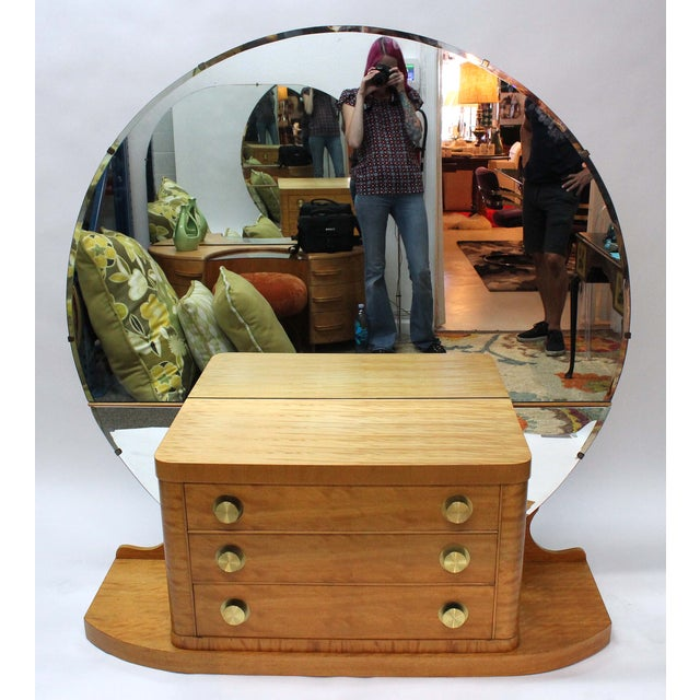 An Art Deco Vanity Or Dressing Table Circa 1940 S 50 In A Blonde Colored