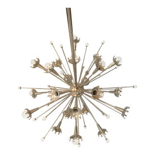 Jonathan Adler Polished Nickel Sputnik Chandelier For Sale