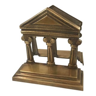 Classic Architecture Brass Bookends For Sale