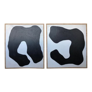 Abstract Monochrome Duo For Sale
