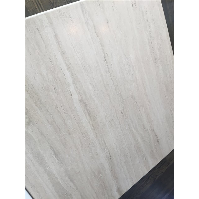 Italian Travertine Marble Coffee Table For Sale In San Francisco - Image 6 of 9
