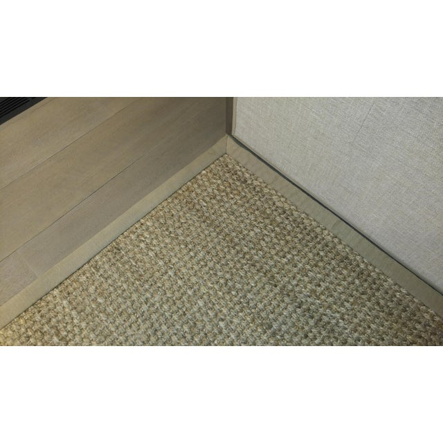 Jute Are Rug With Linen Binding - 13′ × 15′7″ For Sale In Los Angeles - Image 6 of 7