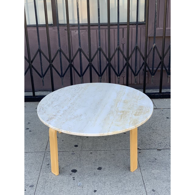Contemporary Coffee Table W Marble Top Chairish