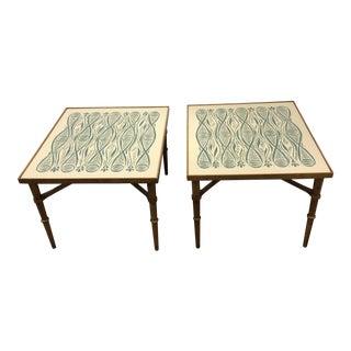 1950s Mid-Century Modern John Van Koert for Drexel Side Tables - a Pair For Sale