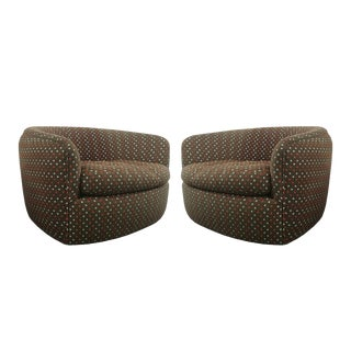 Swivel Tub Chairs Designed by Milo Baughman For Sale